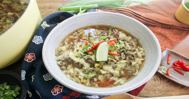 Low Carb Chinese Cabbage Beef Soup Recipe