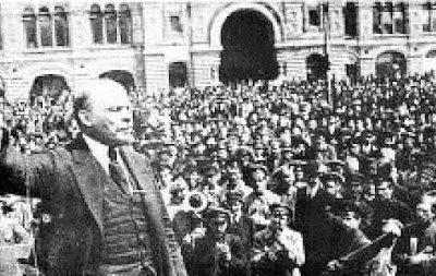 Through the Russian revolution Lenin