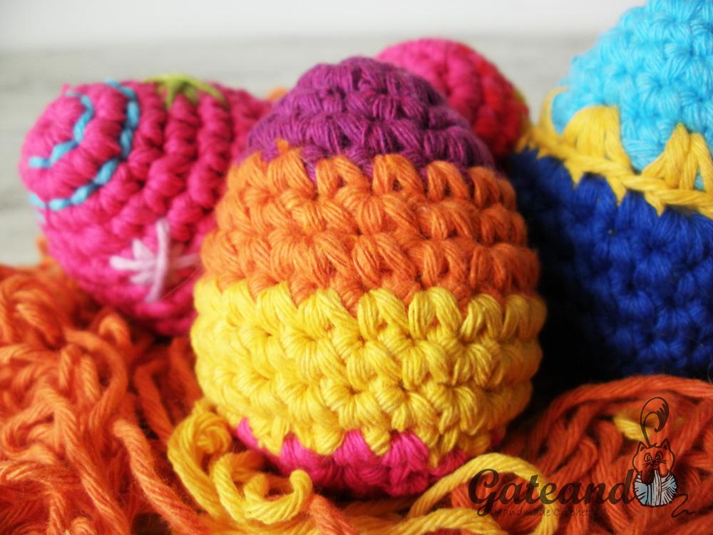 Magnífico Huevos De Pascua Modelo Del Ganchillo Libre Elaboración ...
