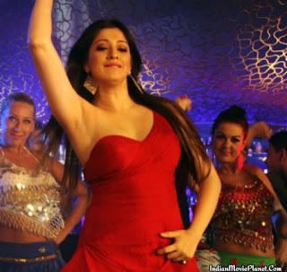 actress raai laxmilakshmi hot item dance stills red dress