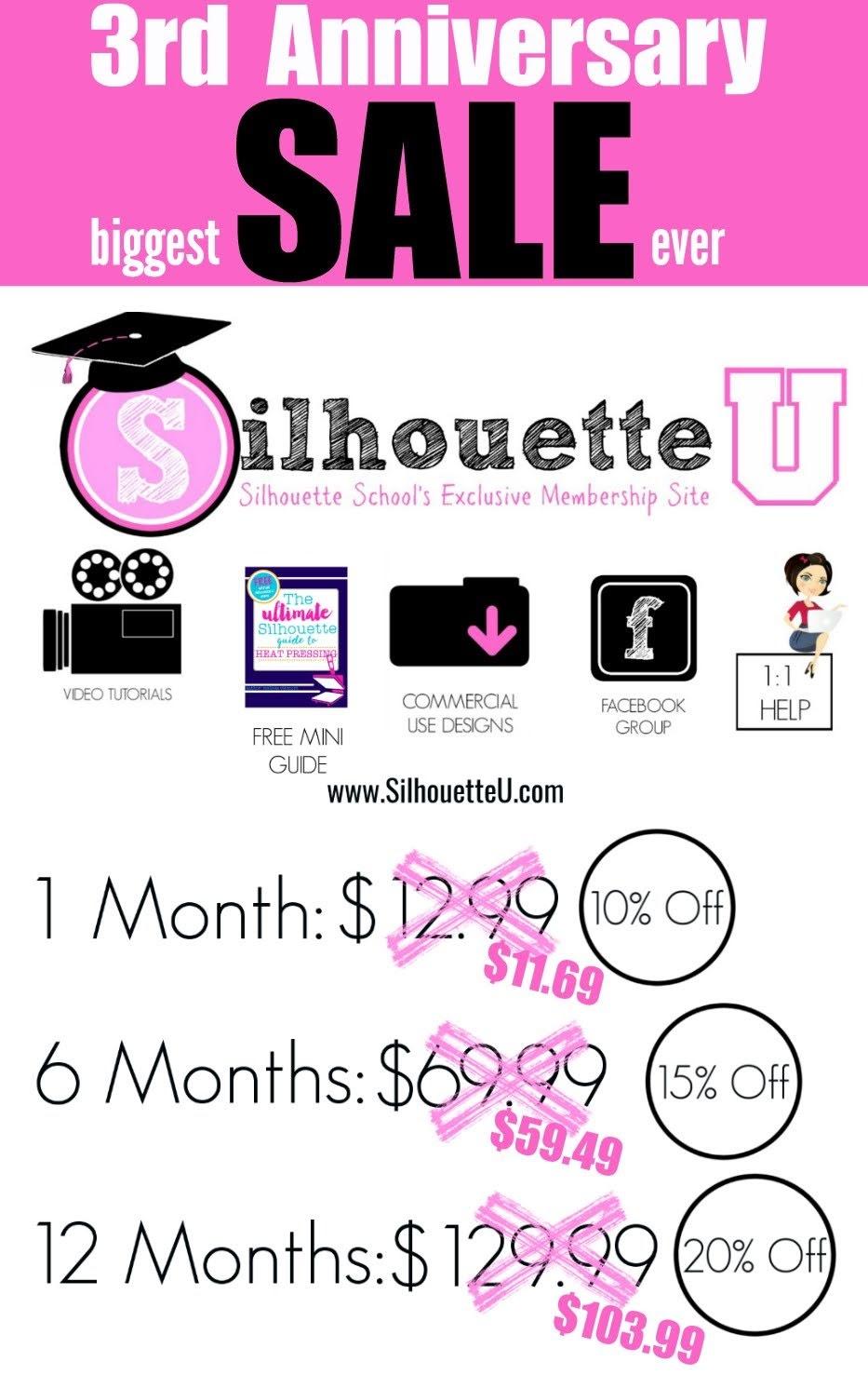 silhouette 101, silhouette america blog, silhouette u, Silhouette u promo code, silhouette university