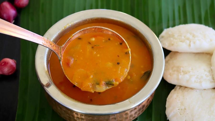 சீக்கிரமா ரெடி பண்ண பருப்பு இல்லாத சாம்பார்!