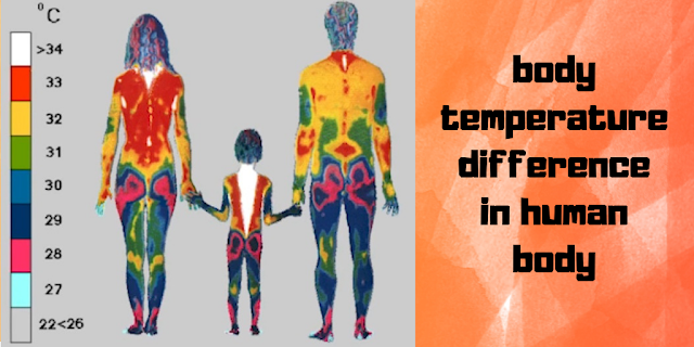 human body temperature difference