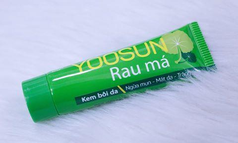 Review Kem bôi da Yoosun Rau Má: Ngừa mụn - Mát da - Tránh sẹo, yoosun rau má, kem yoosun rau má, yoosun rau ma, kem trị mụn yoosun rau má