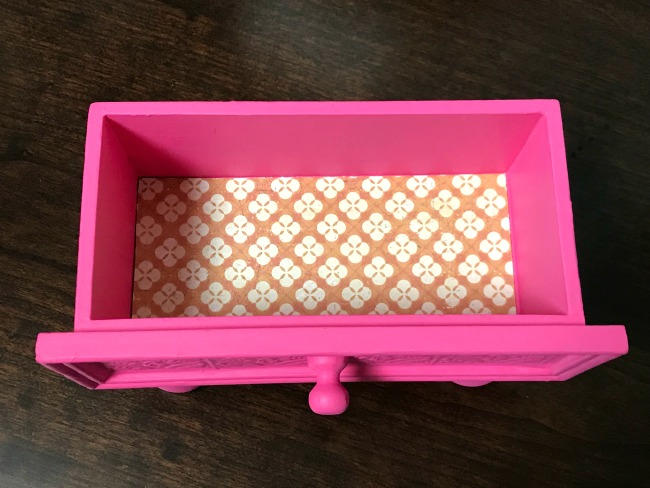 Repurposed Drawer Nail Polish Organizer