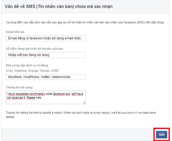 khắc phục lỗi xác minh facebook