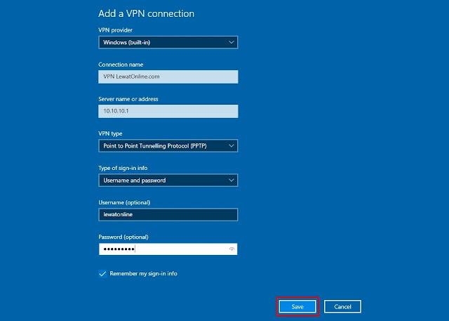 cara setting vpn di windows 10