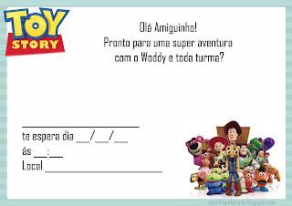 convite aniversário toy sotory para imprimir grátis