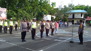 Kabag Ops Polres Pangkep Pimpin Apel Pengecekan Personel