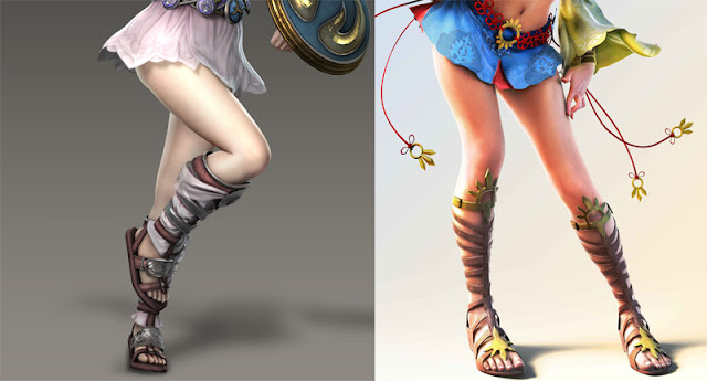 female video game characters in sandals