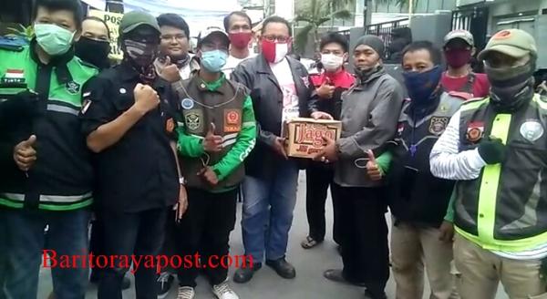 Garda dan Tekab Bantu Ketua MPR RI Bambang Soesatyo Serahkan Sembako untuk Korban Kebakaran Tambora