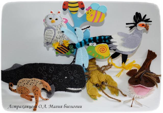 пальчиковый театр КОАПП_почему кусают насекомые_магия биологии, кашалот, гепард, удильщик, сова, стрекоза, рак, птица-секретарь, дерево насекомых