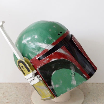 Dali Lomo Star Wars Boba Fett Cardboard Helmet Template