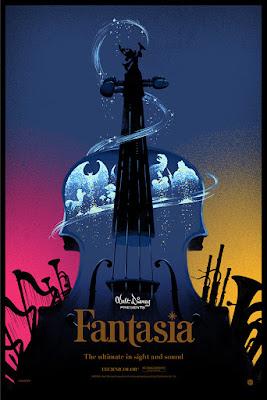 Disney's Fantasia Screen Print by Lyndon Willoughby x Cyclops Print Works