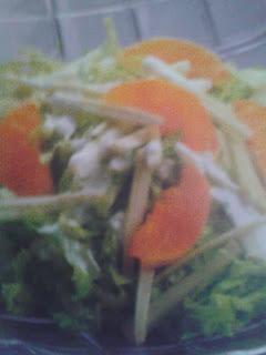 Ensalada de apio y naranjas