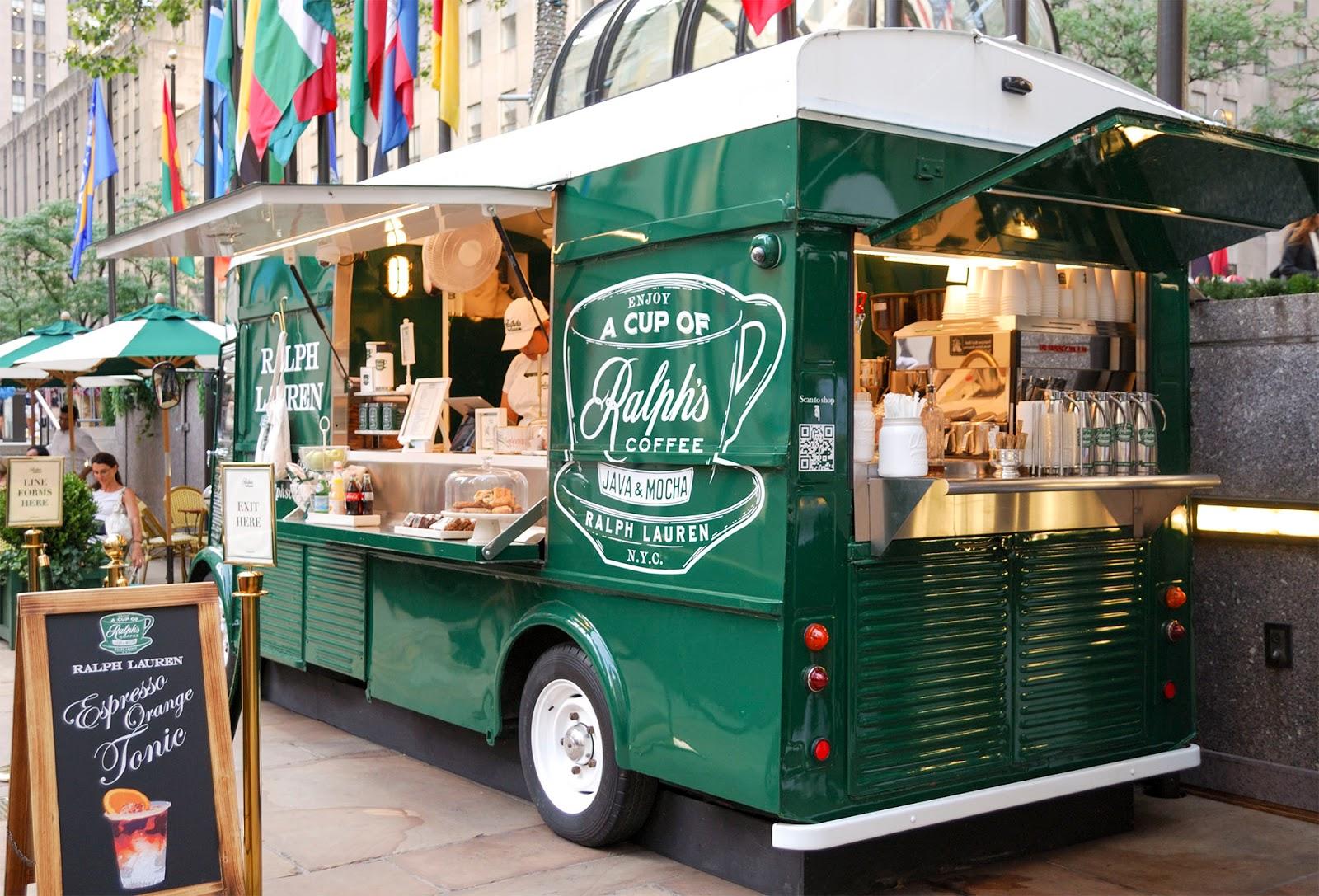 new york itinerary guide plan manhattan rockefeller shopping ralph's coffee food truck