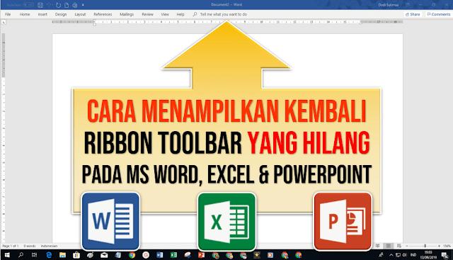 Cara Menampilkan Toolbar yang Hilang pada Word
