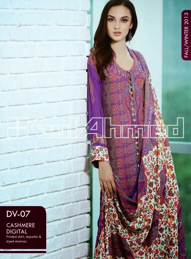 Fashion Fok Uk Fashion Spring Summer Outfit 2015 For: Fashion & Fok: Gul Ahmed Fall-Winter Embroidered-Khaddar