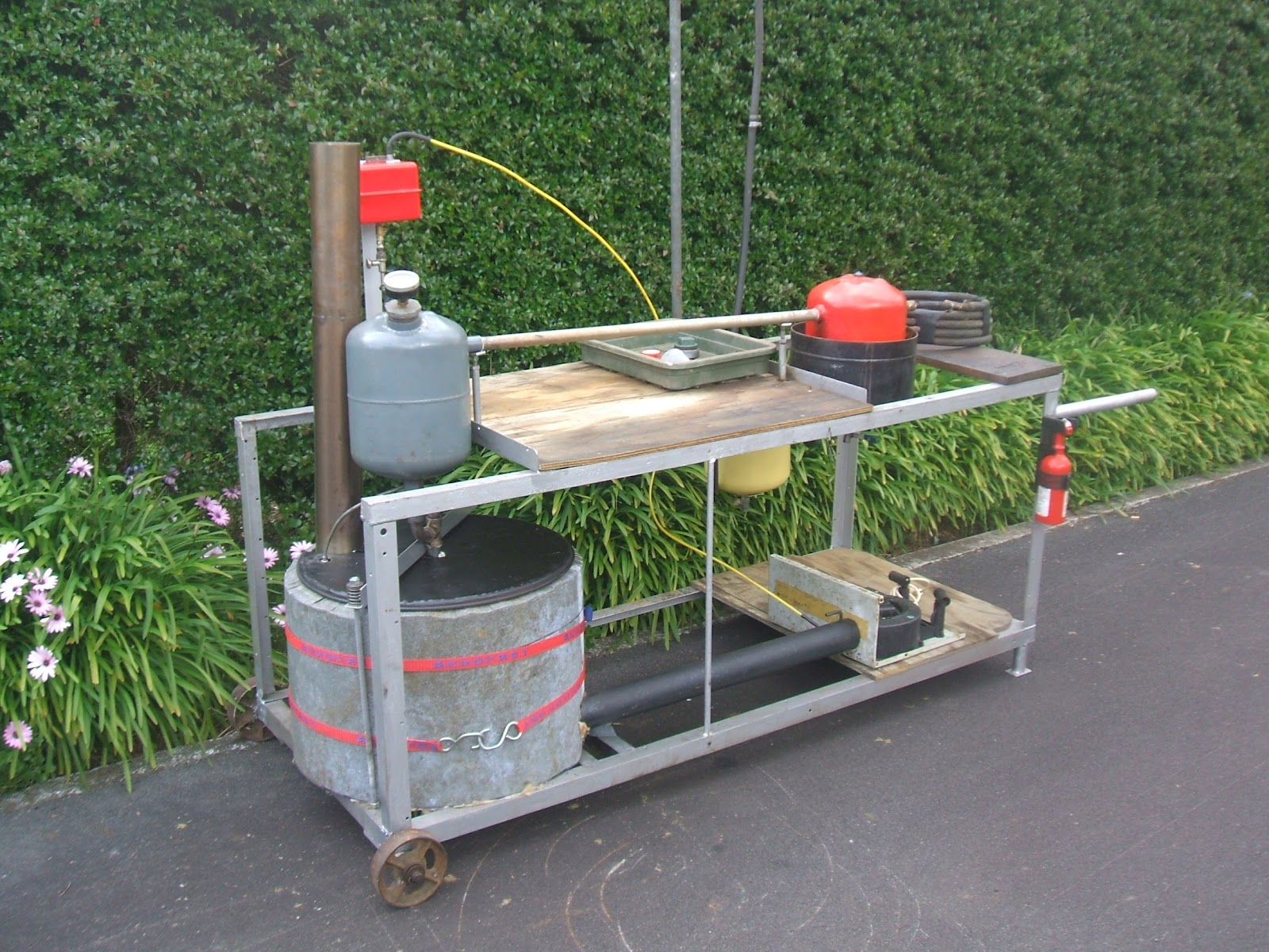 Fuel from waste oil and plastic DIY Orion: Turk burner