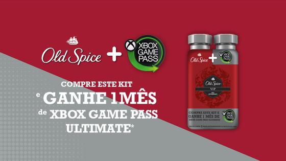 Promoção Old Spice Ganhe um mês de Xbox Game Pass Ultimate
