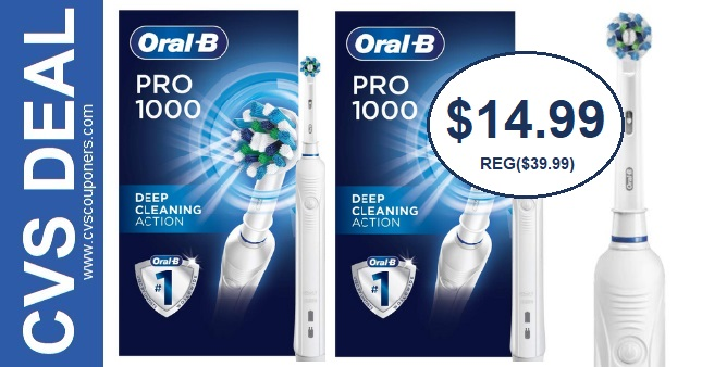 Oral-B Pro 1000 Toothbrush CVS Deals