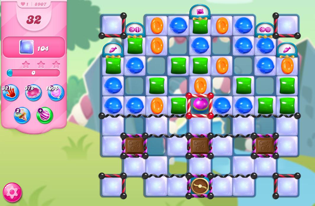 Candy Crush Saga level 8907