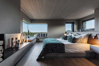 Dormitorio Suite en casa de diseño