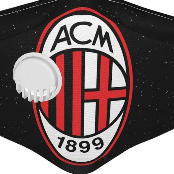 AC Milan Face Mask with Black Color and Beautiful Logo