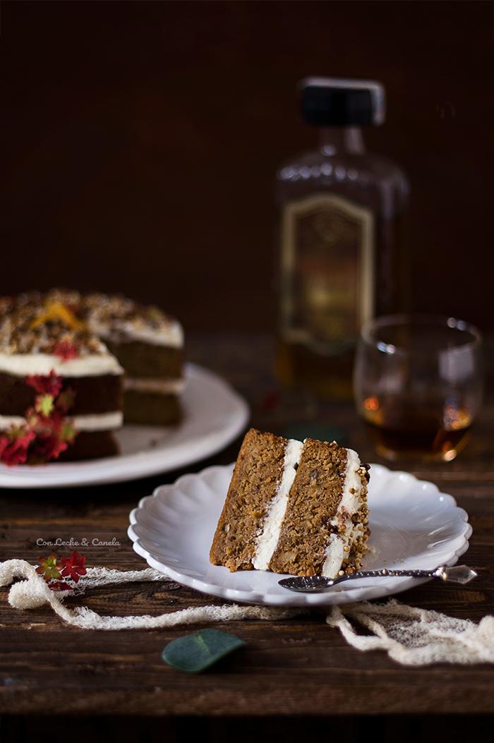 carrot cake con almendra molida y amaretto sin gluten