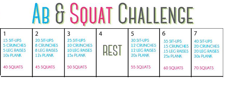 Ab & Squats Challenge: Week 1 Images - Frompo