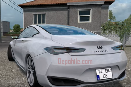 Euro Truck Simulator 2 1.36 Infiniti Q60 Spor Araba Modu İndir 2020