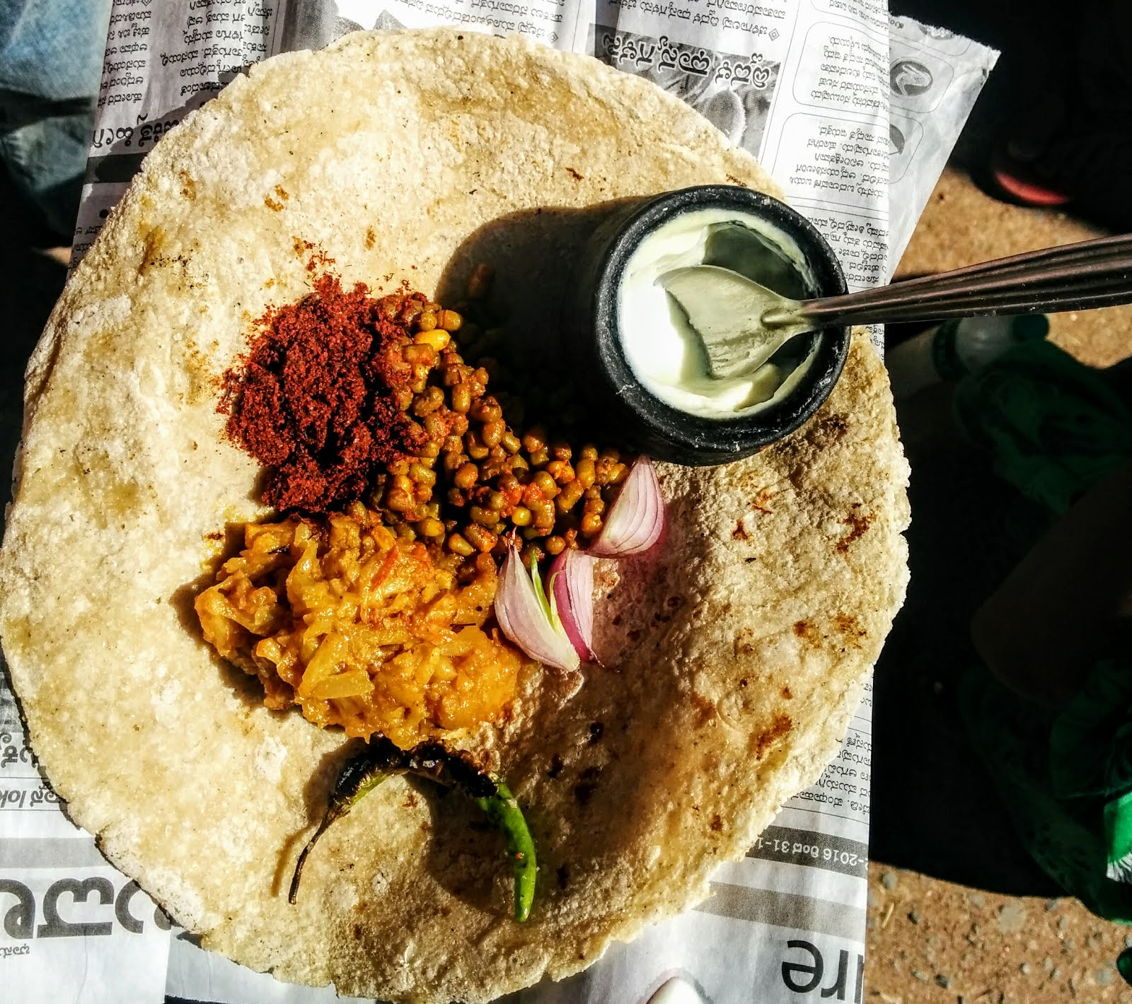 Traditional Lunch at Badami, Aihole and Pattadakkal