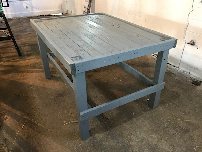 A nice workbench made from pallets