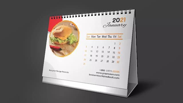 Design Professional Desk Calendar - Adobe Illustrator Cc