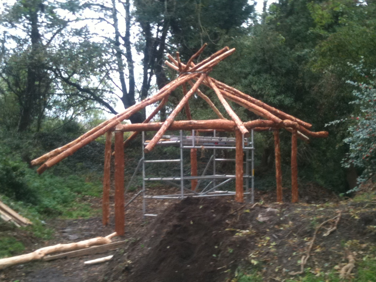 Our first reciprocal frame roof! - Lackan Cottage Farm