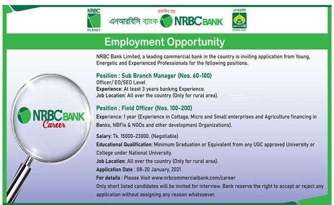 nrcb bank job circular