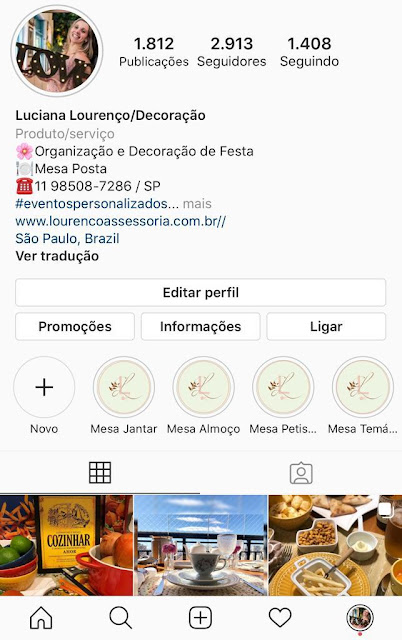 Instagram Luciana Lourenço