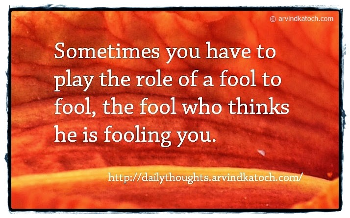 Fool, Play, Fooling, Thinks, Daily, Thought, Quote