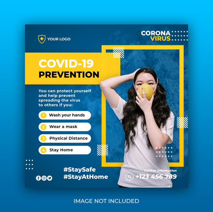 Coronavirus Warning Social Media Instagram Banner Post Template
