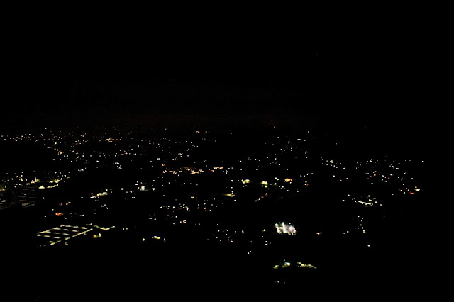 Night view of Mussoorie decorated with lights