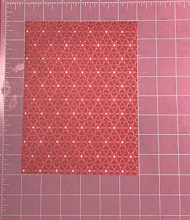 Patterned paper on cutting board