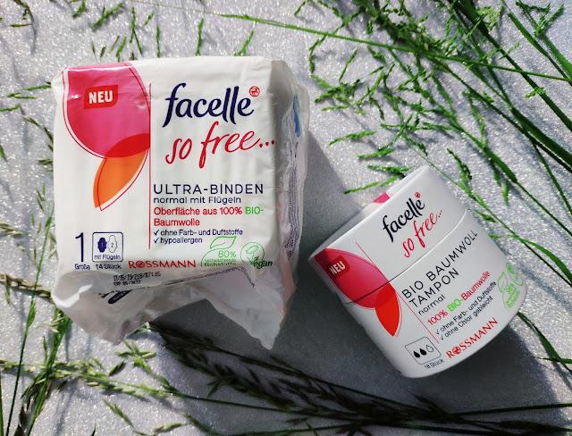 Zdrowa i bezpieczna wersja podpasek, tamponów i wkładek higienicznych Facelle So Free dostępne w Rossmann - mat.prasowe