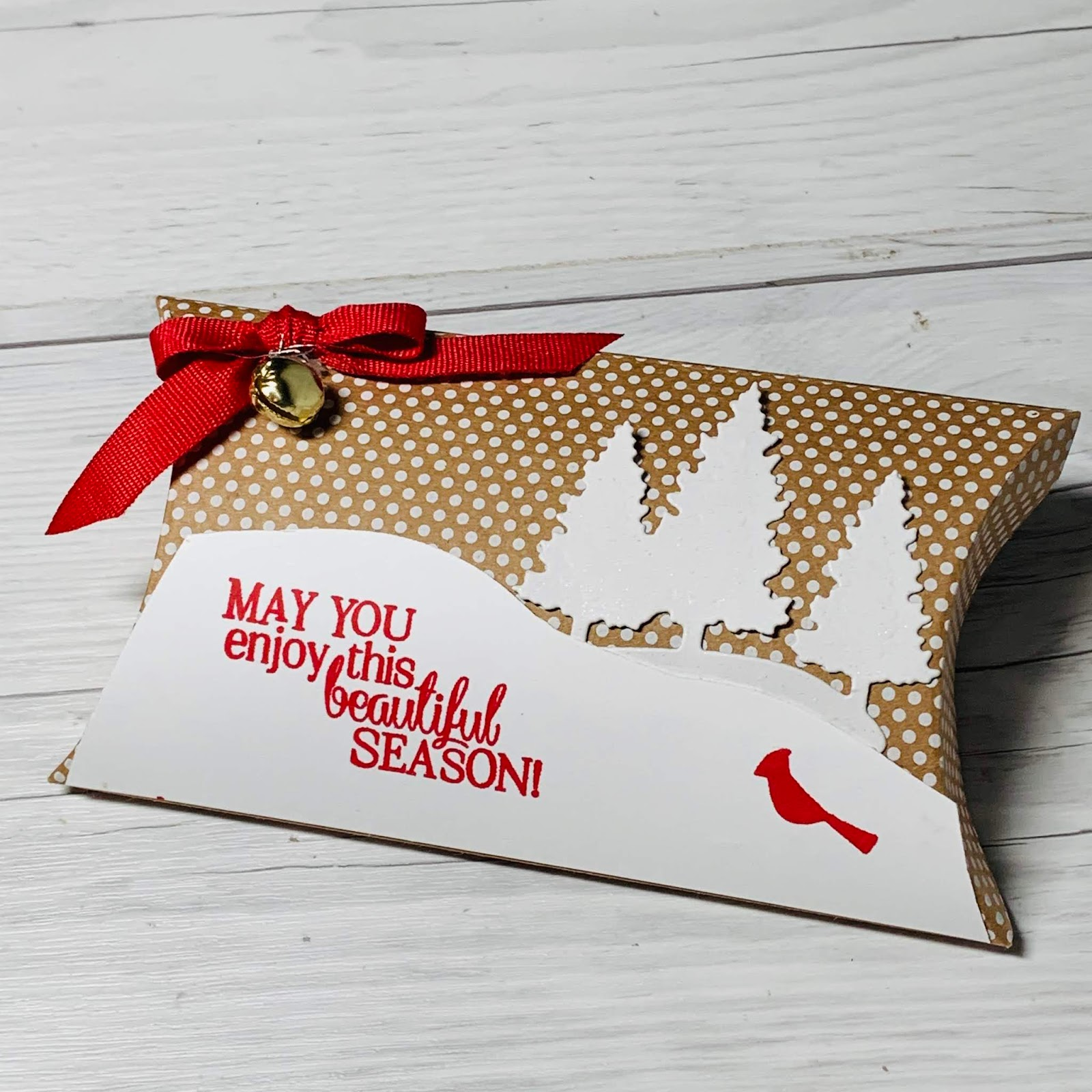 christmas pillow boxes for gift cards