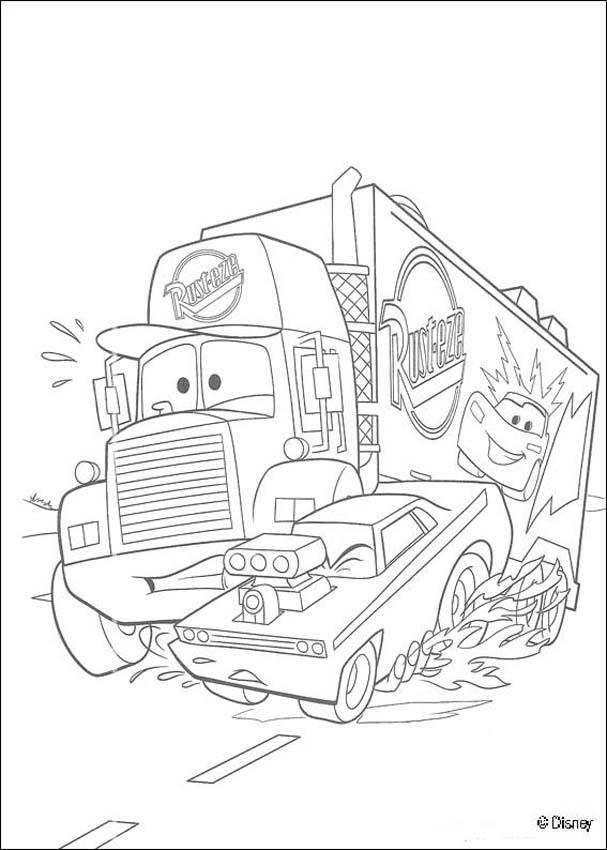 Free Disney cars 2 Coloring Pages Books
