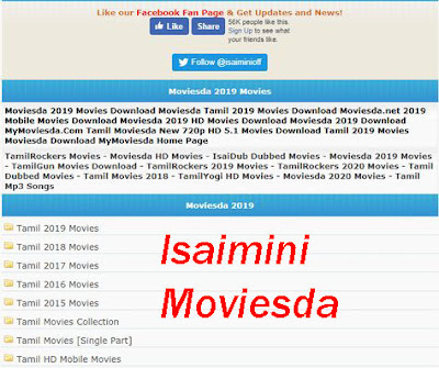 Isaimini Moviesda- 2020 HD Tamil Telugu Movies Download
