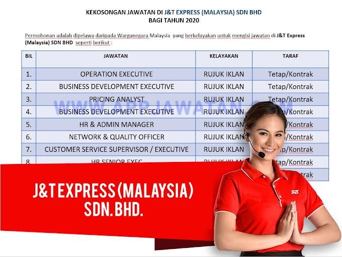 Jawatan Kosong Terkini di J&T Express (Malaysia) Sdn. Bhd.