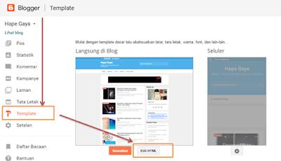 Lanngkah Mengganti Template Blog Responsive