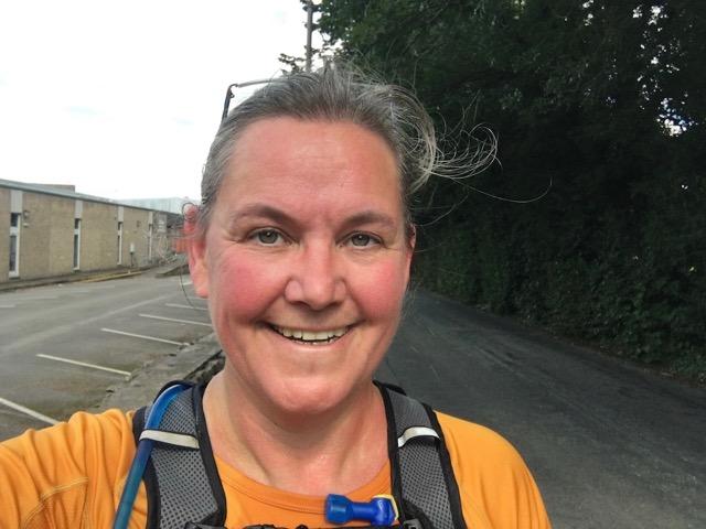 smiling runner