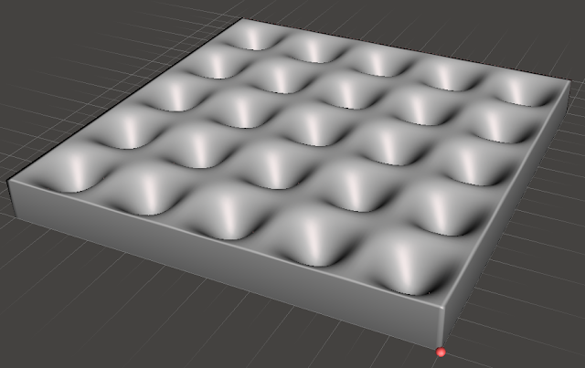 3D model of a rippled surface