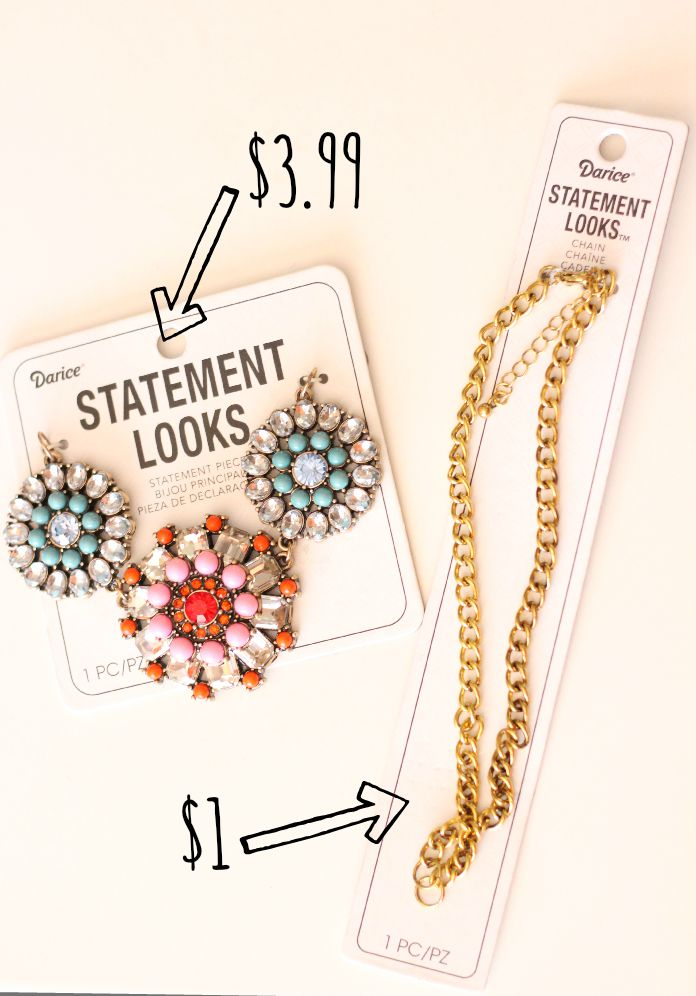 How to make a Statement necklace for $5